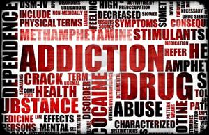 Drug addiction words