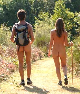nude hikers