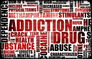 Drug addiction words