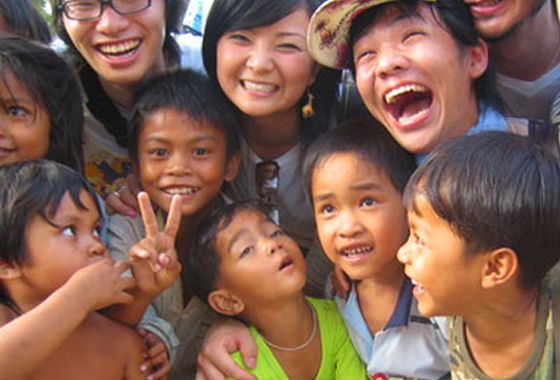 Thai Kids Smiling